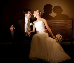 жених и невеста в кофейном стиле