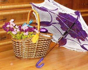 вязаный зонт для невесты