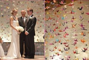 журавлики-оригами на свадьбе