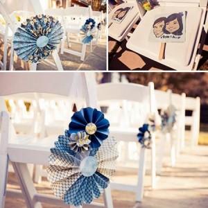 веерные колёса в декоре свадьбы