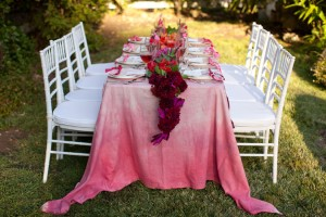 свадебный стол на природе