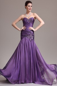фиолетовое свадебное платье