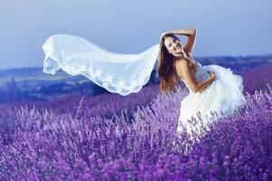 невеста в лаванде