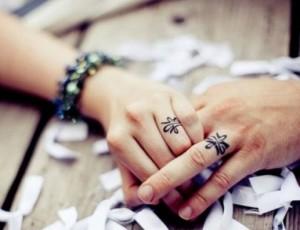 свадебные кольца - татуировки
