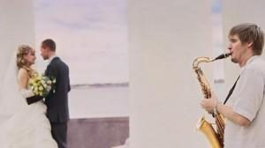 звуки саксофона на свадьбе- ничего романтичнее нет!