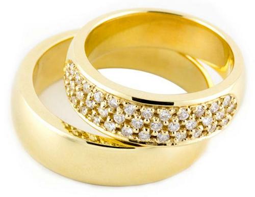 кольца с фото обручальные камнем