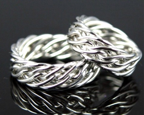 фото обручальные кольца из серебра