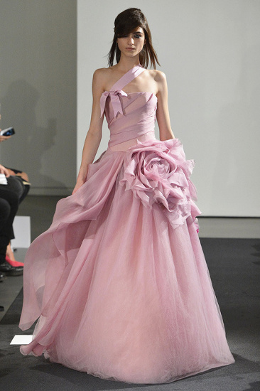 Картинки свадебное розовое платье