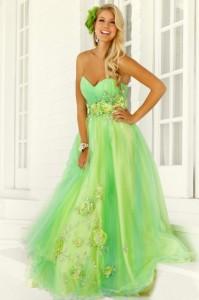 зелёное свадебное платье