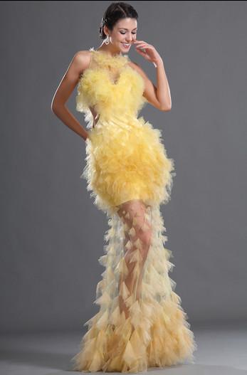 57b9289910f Изумительно красивое жёлтое свадебное платье