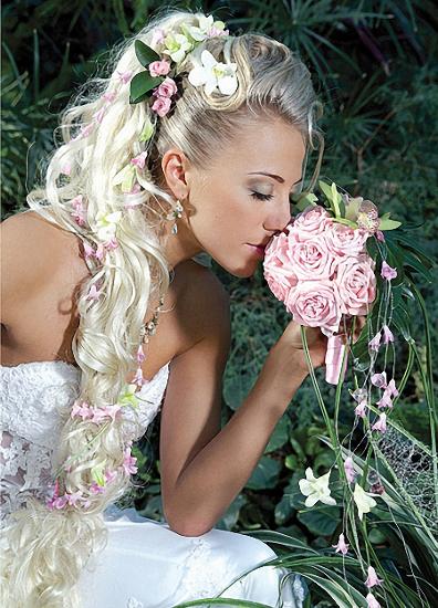 свадебные прически с искусственным хвостом