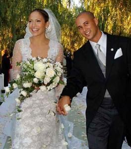 свадебное платье Дженнифер Лопес