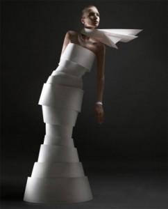 свадебное платье из бумаги