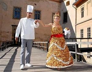 свадебное платье из конфет