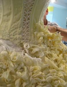 свадебное платье из кондитерского крема
