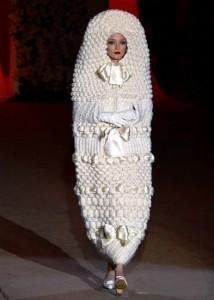 свадебное платье-кокон