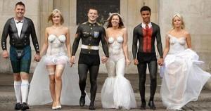 свадебные наряды боди-арт