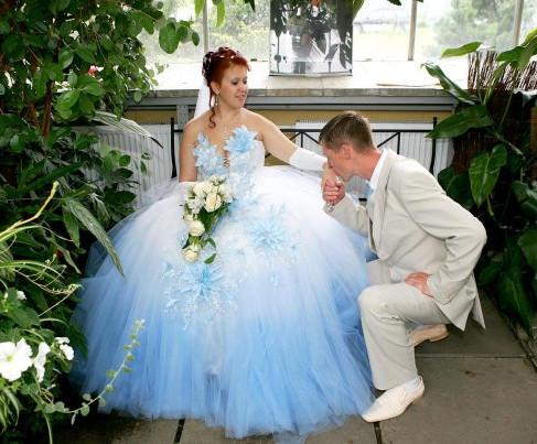 Примета голубое свадебное платье
