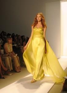 жёлтое свадебное платье