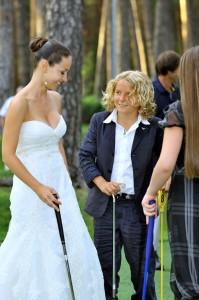 Тематичкеская свадьба в гольф клубе