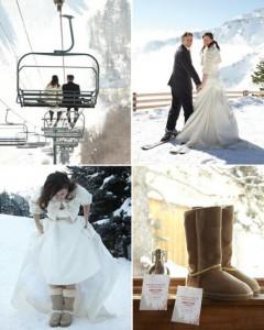 оригинальная зимняя свадьба