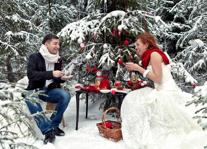 Свадебные фото зимой фото идеи