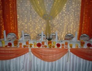 свадьба в оранжевых тонах