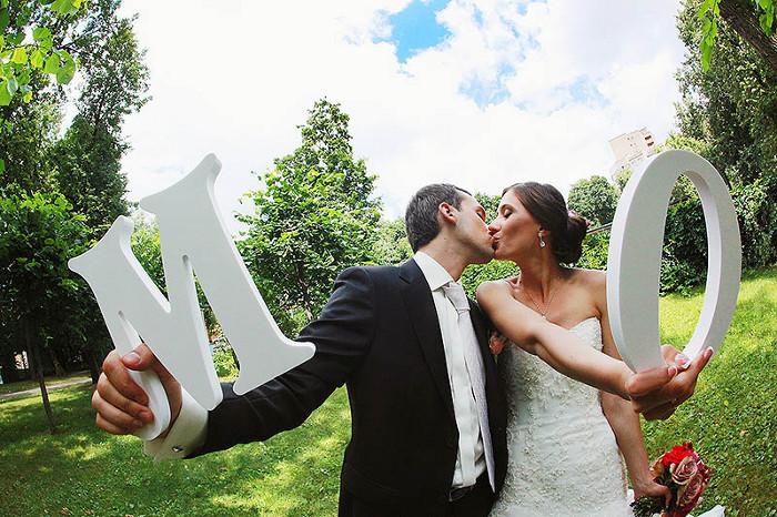 Как сделать объемные буквы для свадьбы своими руками