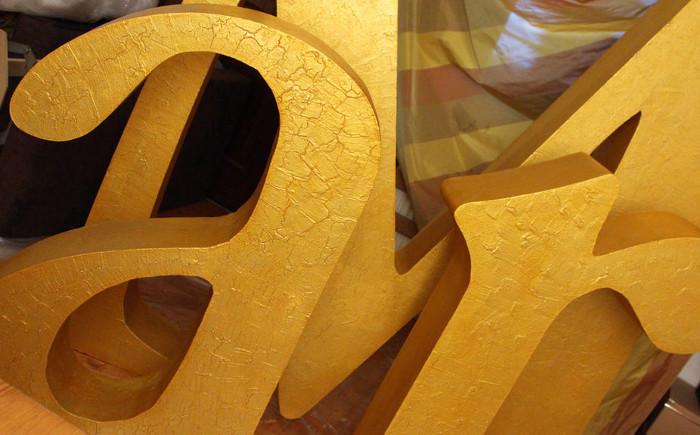 Как сделать большие буквы из пенопласта своими руками фото 766