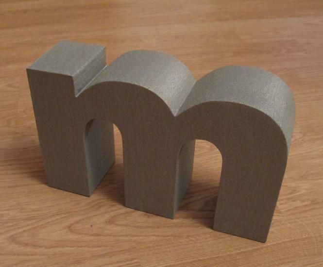 Вырезаем буквы из пенопласта