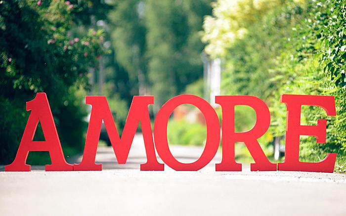Свадебные буквы из пенопласта