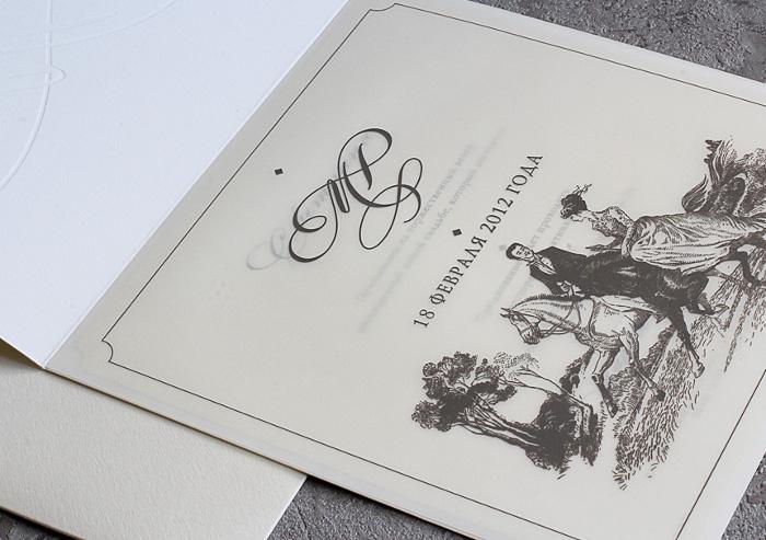 Вензеля приглашения на свадьбу