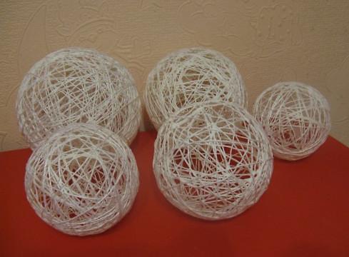 Мастер-класс шары из ниток