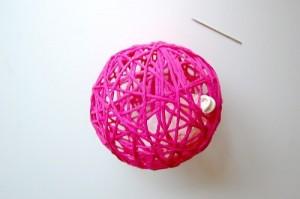 как сделать шары из ниток