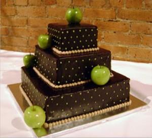 свадебный торт с яблоками