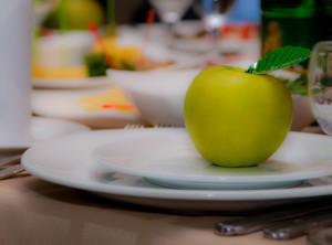 карточки для гостей - яблоки