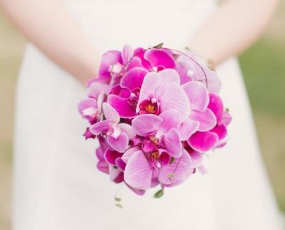 Выбираем свадебный букет из орхидей