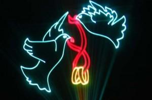 лазерное шоу на свадьбу