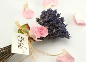 свадебный букет с лавандой