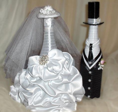Жених и невеста из шампанского мастер класс видео