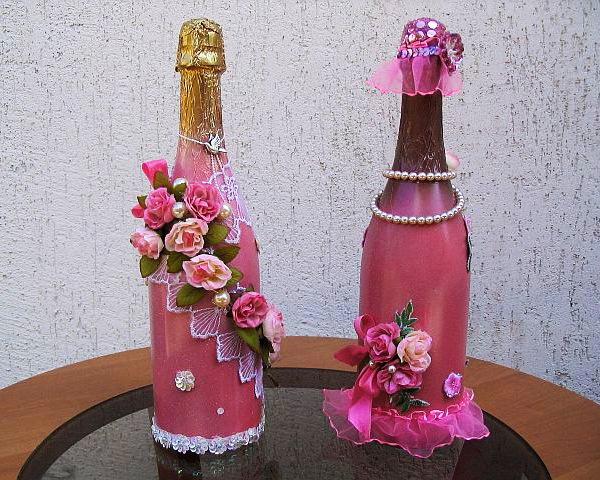 Бутылки красивые оформление своими руками