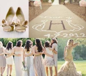 свадьба в песочном цвете