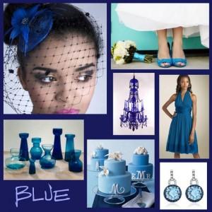 сине-голубая свадьба