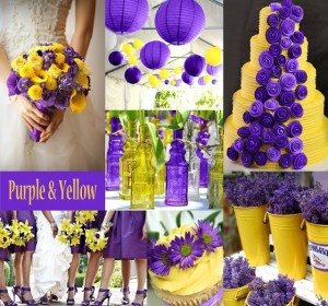 свадьба в жёлто-фиолетовом цвете