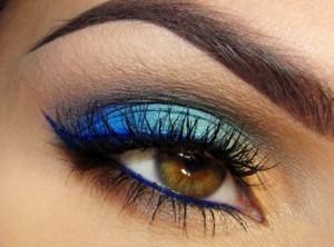 сине-жёлтый макияж