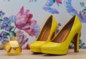 жёлтые свадебные туфли