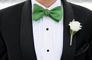 зелёные аксессуары на свадьбу