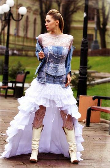 Джинсовые платья для свадьбы