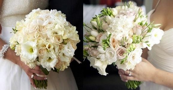 Свадебный букет к платью цвета айвори