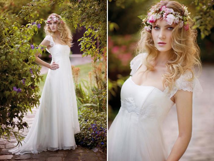 Свадебное платье и венок